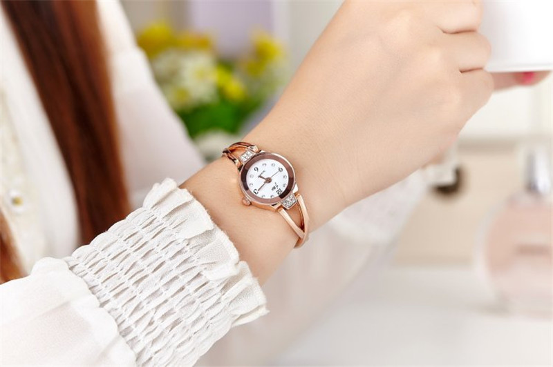 New Fashion Rhinestone Watches Women Luxury Brand Stainless Steel Bracelet watches Ladies Quartz Dress Watches reloj mujer Clock 11