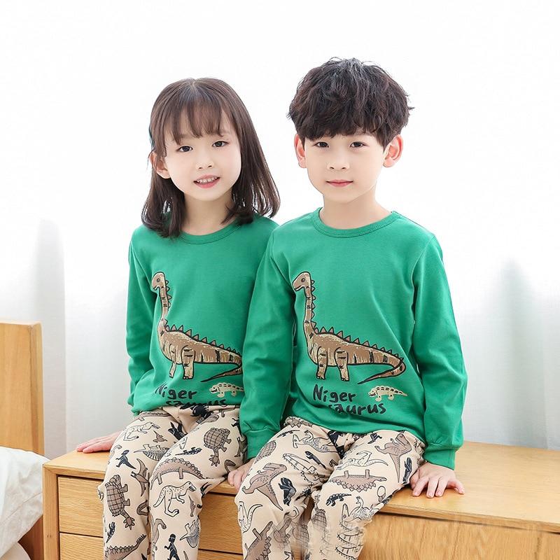 100% Cotton Long-sleeved Sleepwear Pajamas Suits Baby Girls Clothes 2-13Y Teens Pyjamas Kids Pijamas Infantil Winter Pajamas Set 1