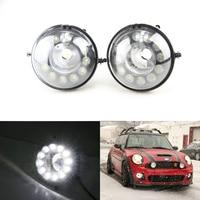 High Power Waterproof Led Daytime Running Light Front Fog Lamp Kit For Bmw Mini Cooper R55 R56 R57 R58 R59 R60 Car Styling White