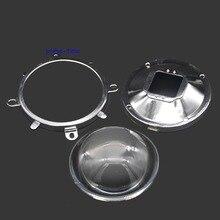 78 мм прозрачный СВЕТОДИОДНЫЙ оптический стеклянный объектив+ 82 мм основание+ 85 мм фиксированный кронштейн для высокой мощности Светодиодный светильник