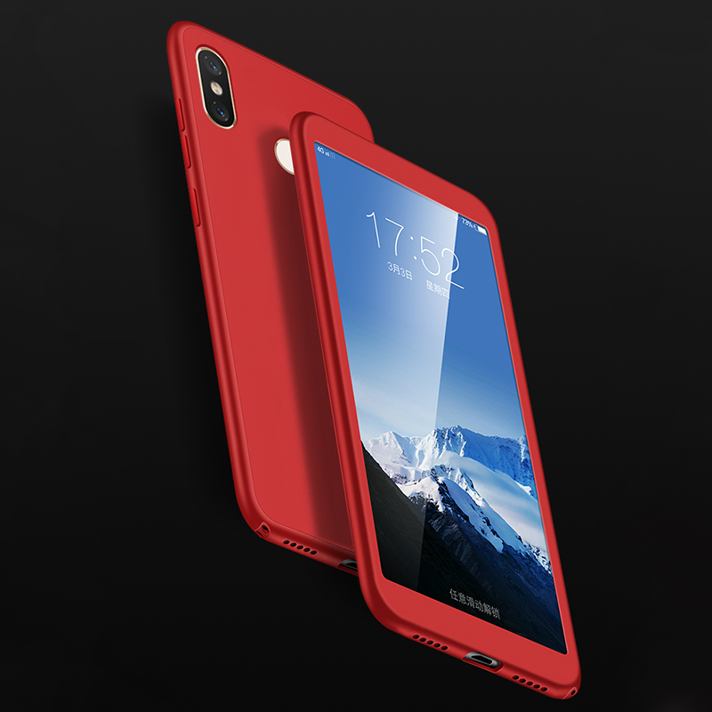 360 Degree Silicone Full Protection Case For Xiaomi Mi 8 SE 6X A2 5X A1 Poco F1 Max 2 Note 3 Redmi Note 6 Pro Plus 6A 4X S2 5A