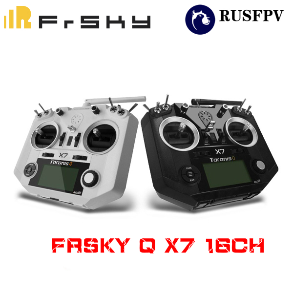 FrSky ACCST Taranis Q X7 Transmitter 2.4G 16CH Mode 2 Left Throttle For RC Hobbies Helicopter Fixed-Wing FPV Racing Drone frsky accst taranis q x7 transmitter 2 4g 16ch mode 2 left throttle for rc hobbies helicopter fixed wing fpv racing drone