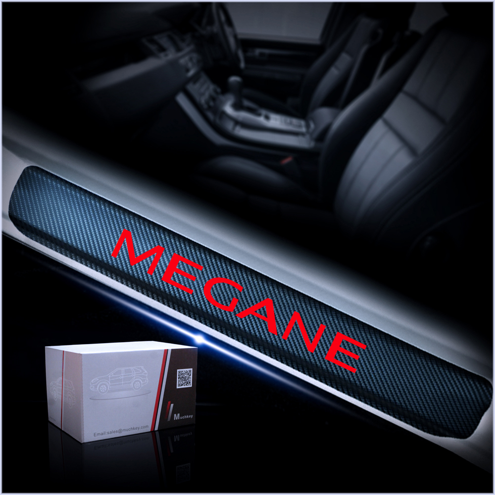 For Renault Megane Door Threshold Plate Car Door Sill Protectors Scuff Plate Carbon Fiber Sticker Car Accessories 4Pcs in Interior Mouldings from Automobiles Motorcycles