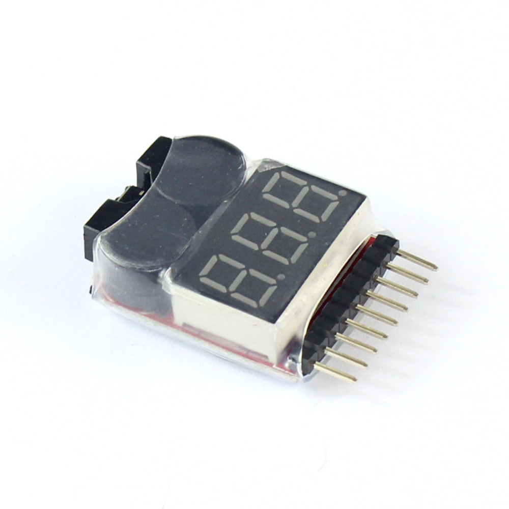 F00872 Lipo Battery Voltage Tester Volt Meter Indicator Checker Dual Speaker 1S-8S Low Voltage Buzzer Alarm 2in1 2S 3S 4S 8S +FSF00872 Lipo Battery Voltage Tester Volt Meter Indicator Checker Dual Speaker 1S-8S Low Voltage Buzzer Alarm 2in1 2S 3S 4S 8S +FS