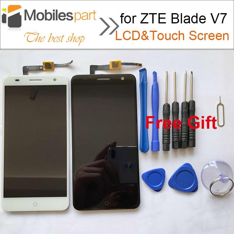 imágenes para Para ZTE Blade V7 Pantalla LCD Reemplazo De Alta Calidad de Accesorios de Pantalla LCD + Pantalla Táctil para ZTE Blade V7 5.2 pulgadas Smartphone
