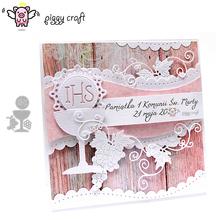 Piggy Craft metal cutting dies cut die mold New IHS letter leaf cup Scrapbook paper craft knife mould blade punch stencils dies