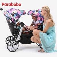 Роскошные twin коляска twin Детские коляски двойной можно разделить несколько рождения детский костюм для второй ребенок лежал и сиденье