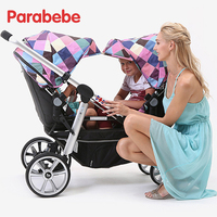 Luxury twin stroller twin baby pram double can split multiple birth children Suit for Second baby Lying and Seat