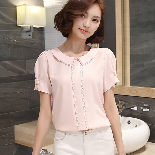 Blouses for work are available in a variety of styles and colors that help women convey a message of power and sophistication in the workplace. Blouses used to accessorize a casual or business professional fashion ensemble are available in a variety of styles.