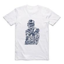 Modal New Fashion Men's American Football Patriotas Tom Brady /julian Edelman/Rob Gronkowski/Hightower/Brandin Cooks/T-shirt