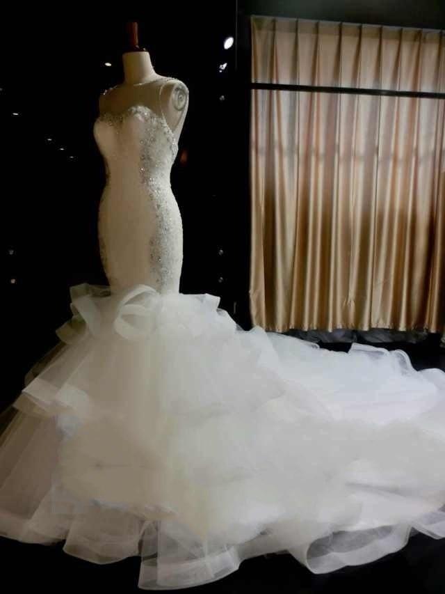 Vestido de novia 2017 Luxurious Mermaid font b Wedding b font Dress Lace Appliques font b