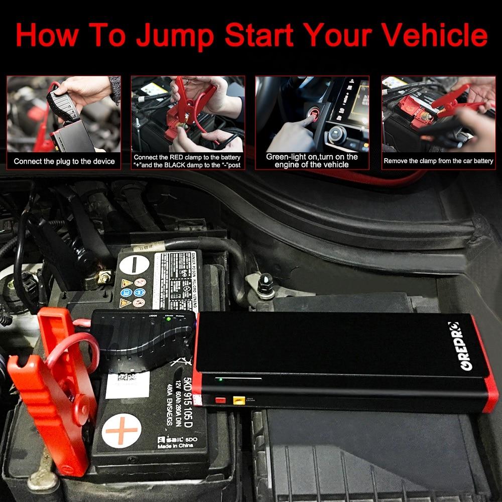 GREPRO Jump Starter 2000A Car jump starter 12V Vehicle buster Booster starting device Auto Emergency start