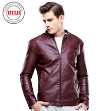 DIMUSI Men Autumn Winter PU Leather Jacket Motorcycle Male Business casual Coats