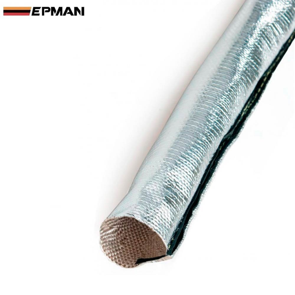 Metallic Heat Shield Thermal Sleeve Insulated Wire Hose Cover Heat ...