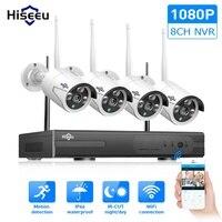 Wi Fi IP пуля камера 1080 P 8CH NVR беспроводной видеонаблюдения системы комплект Инфракрасный 4 шт. Cam удаленного просмотра по IP Pro 1 т hdd