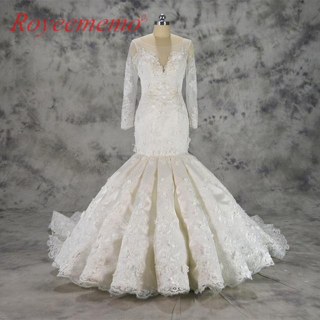 2018 new design Vestido de Noiva mermaid lace wedding dress luxury ...