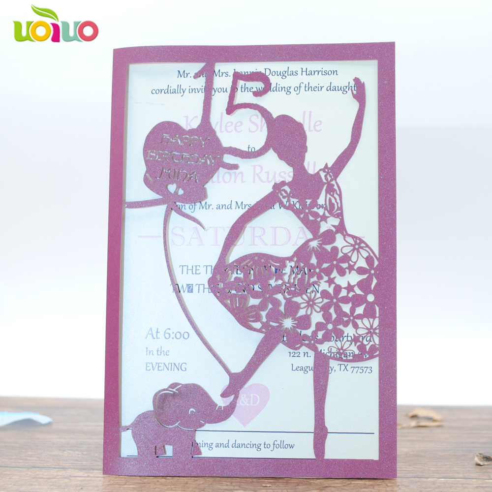 10 Dancing Girl Laser Cut Party Girls Birthday Invitation Card Royal 90 Polos Envelope 80 Gsm White 100 Envelopes Box 1 We Are One Of The Most Professional Manufacturers In China And Produce All Kind Cupcake Wrapperswedding Boxgift Casescupcake Linersplace Cardseat