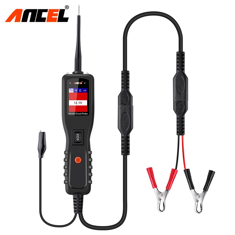 цена Ancel PB100 Car Battery Tester 12V 24V Power Probe Auto Circuit Tester Electrical System Powerscan Test DC AC Electric Circuit