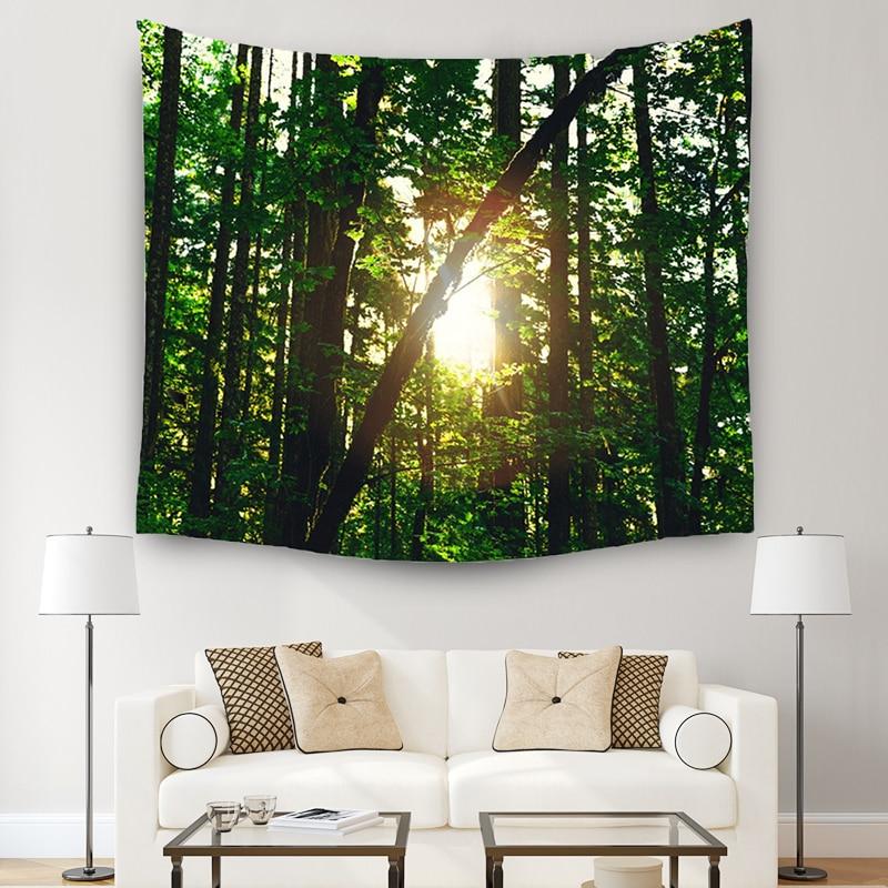 ★  3 размера лес живописный гобелен индийской мандалы гобелены на стене покрывало йога коврик пляжное п ①