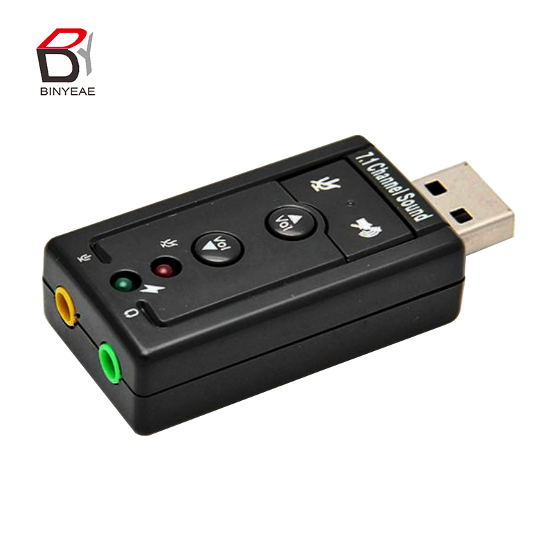 High Quality 3D Audio Sound Card Adapter 12Mbps USB 2.0 Virtual 7.1-Channel CH Звуковая карта