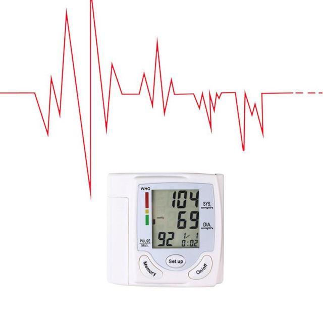 Monitor digital de pressão arterial, medida do pulso automático da pressão arterial batimento cardíaco máquina médica