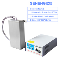 G 1036Z Portable Ultrasonic Cleaner Vibration Board 1800W Transducer Box Generator Bath Tank Cleaning Machine Power Adjust