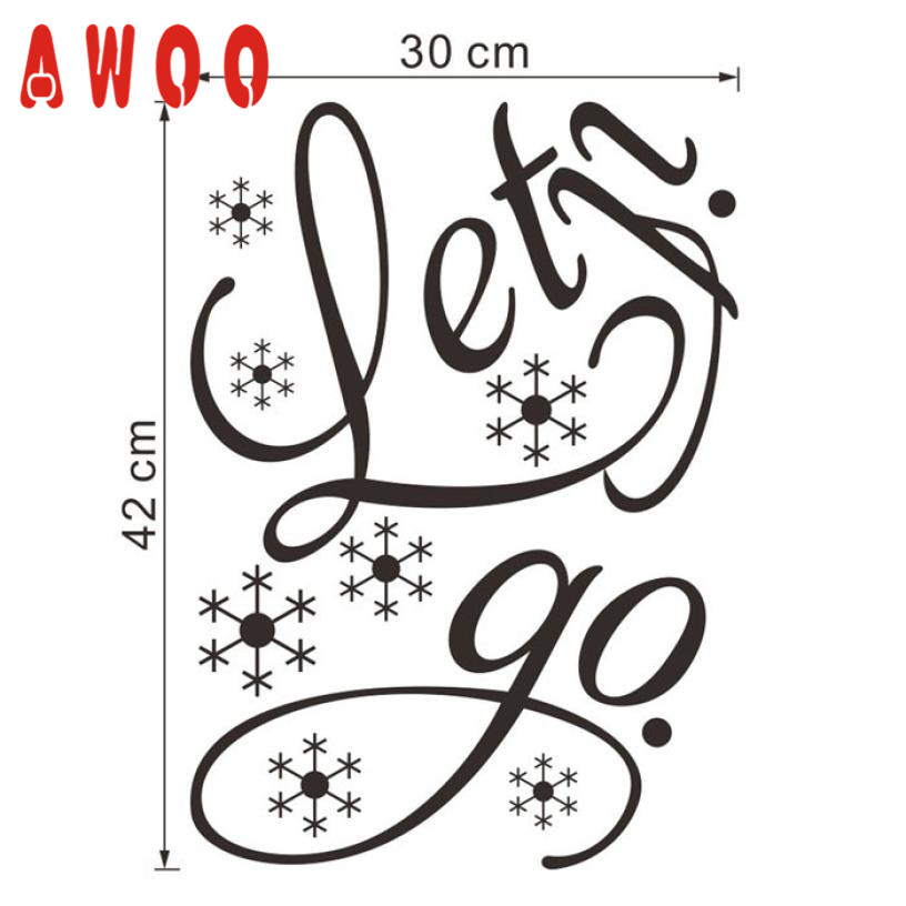 wall sticker 2017 Hot New Let It Go Kids Room Snow Vinyl Frozen Wall Sticker Home Wall Words Cute Wall Art Decoration 17MAY9