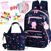 Children School Bags Teenagers Girls Printing Rucksack school Backpacks 2pcs/Set kids travel backpack schoolbags mochila escolar japanese anime masked rider kamen rider gaim printing canvas military backpack mochila escolar children teenagers school bags