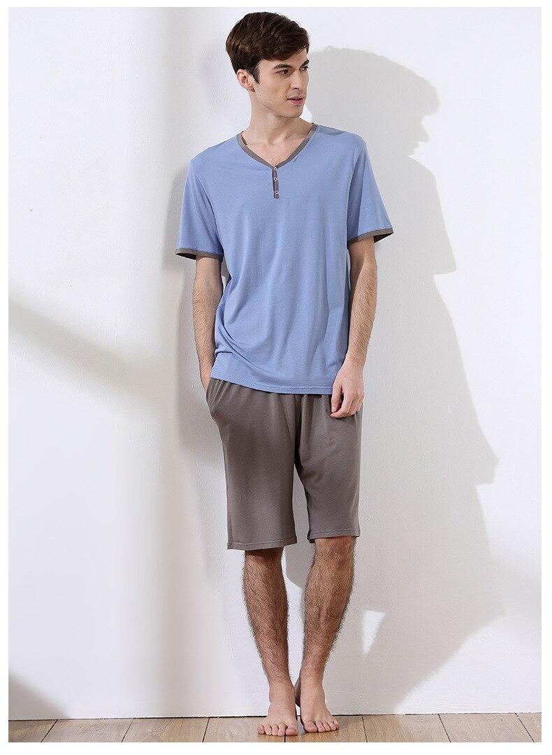 Pijama de Algodão Sólida Tamanho L para 3XL Sleepwear