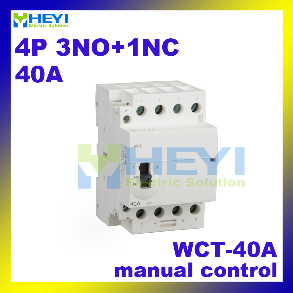 4pole 3no 1nc 220vac 50hz Wct 40a Voltage Protector Din Rail Ac Uxcell Waved Plastic Handle Pcb Circuit Board Anti Static Brush Black Household Contactor Manual Control