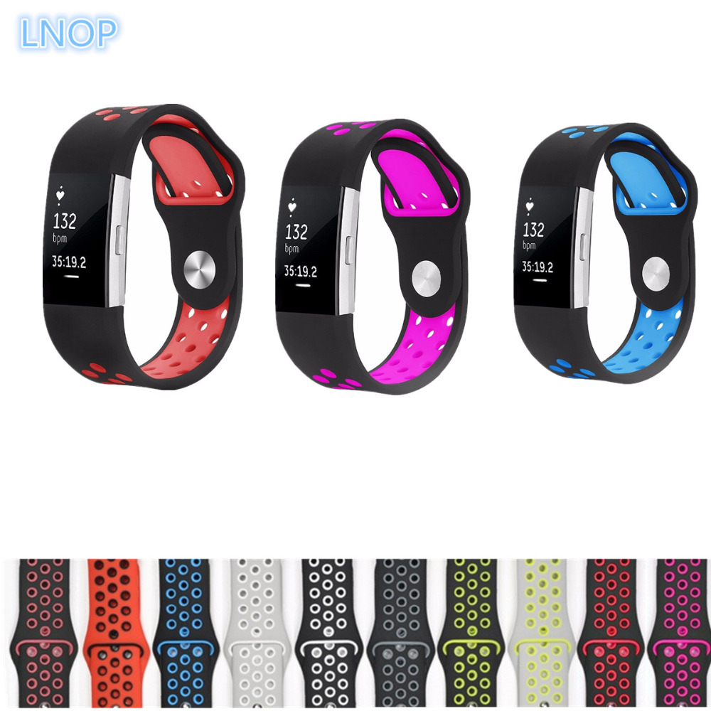 LNOP Strap for fitbit charge 2 band Silicone strap replacement watch band For Fitbit charge 2 bracelet smart wristbands