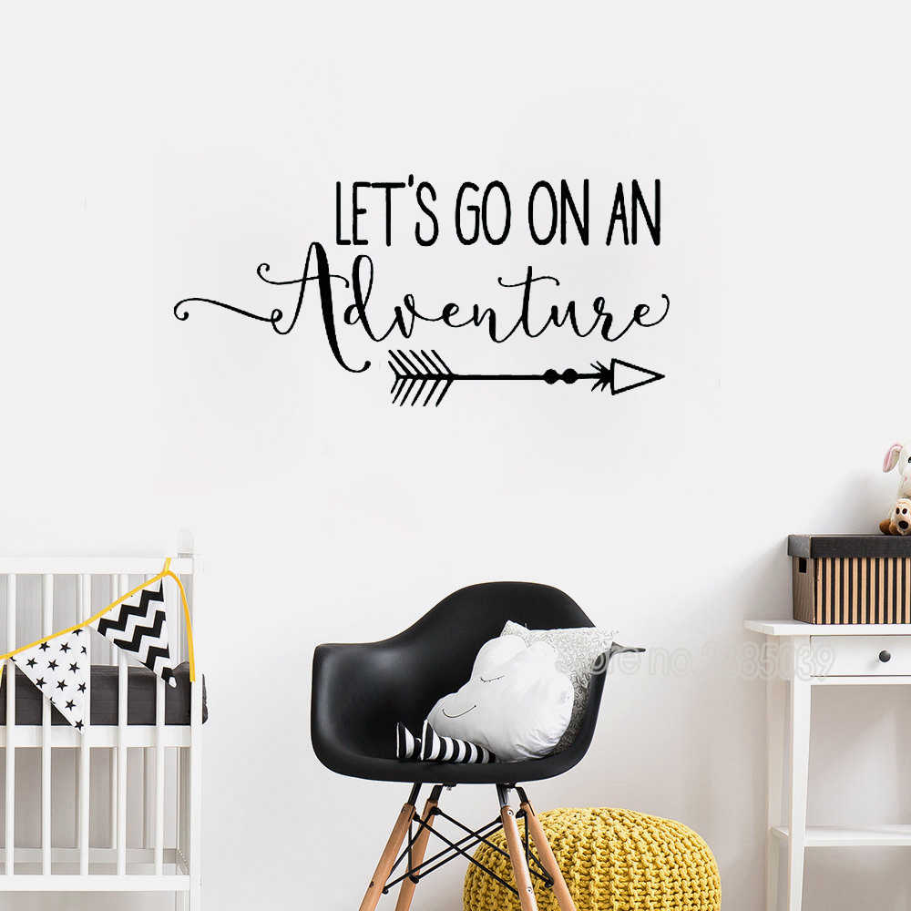 Vinyl Wall Decal Quote Travel Theme
