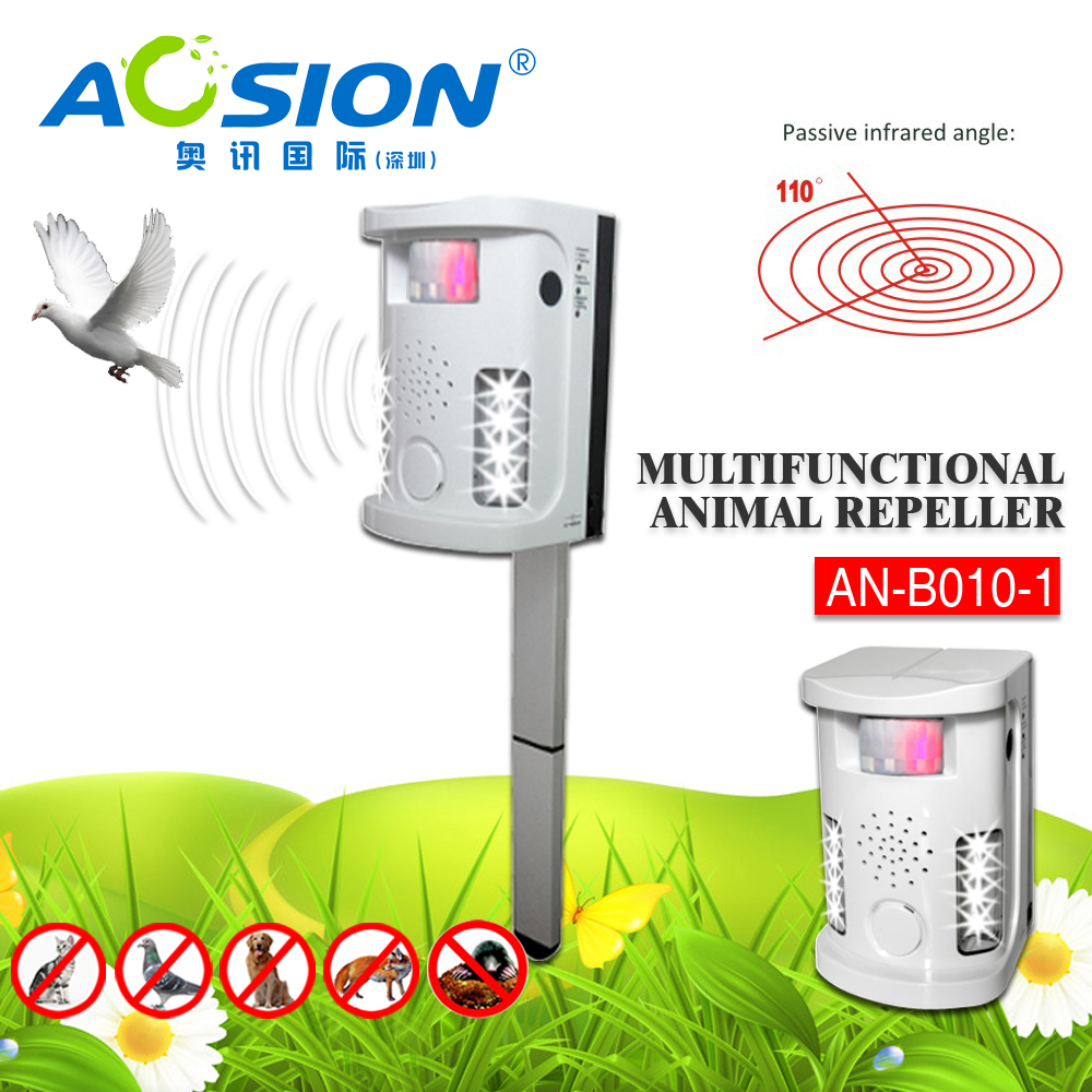 Popular Model Ultrasonic Multifunctional Animal Repeller Dog Cat Electronic Repellent Circuit 2 Pir Sensors Ultrasound Alarm Flashing In Repellents From Home Garden On