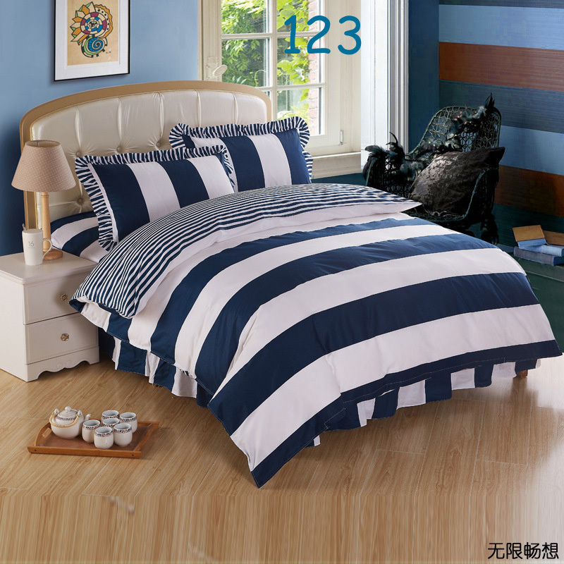 Blue And White Striped Bedding