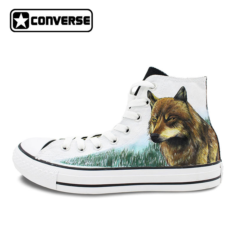 Converse Chuck Taylor Hand Painted Shoes Twilight Jacob Wolf Custom Design Men Women's High Top Canvas Sneakers converse chuck taylor women men shoes anime tokyo ghouls custom design hand painted shoes high top white sneakers cosplay gifts