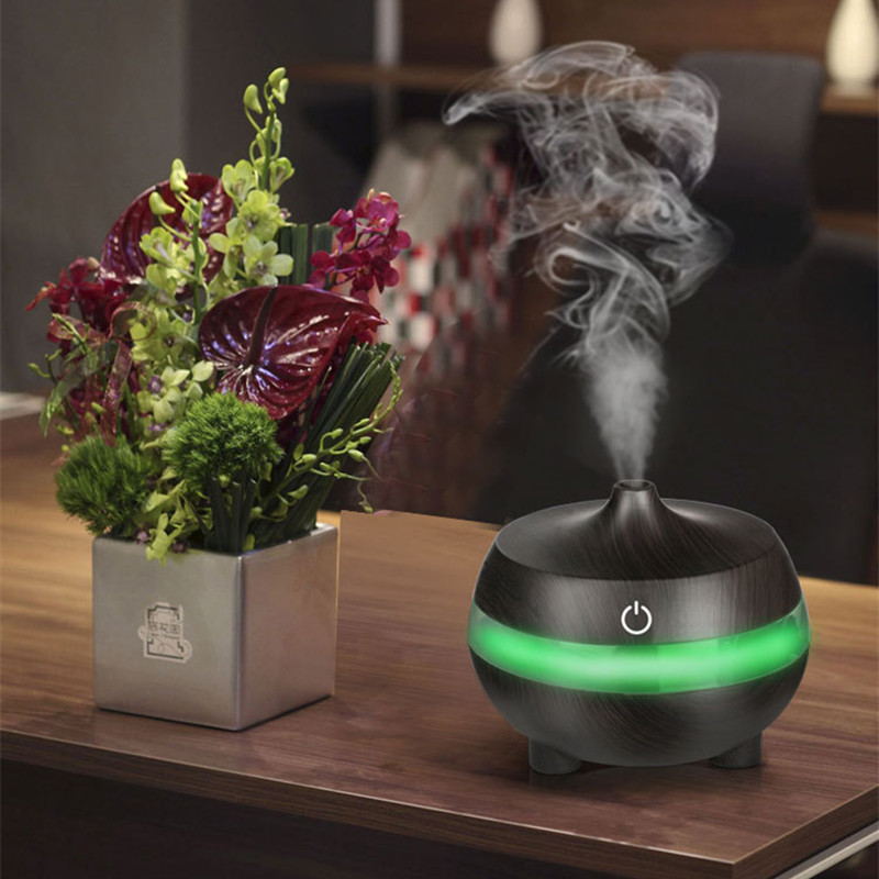 300ml USB Aroma Essential Oil Diffuser Ultrasonic Air Humidifier Grain Aromatherapy Essential Oil Cool Mist Humidifier цена