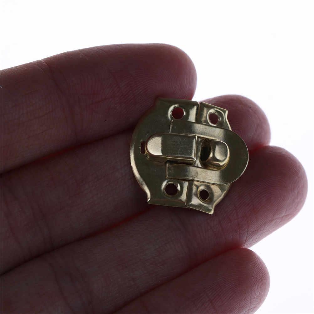 4 pièces/lot 26X29MM Vintage bijoux coffre boîte tronc boucles valise valise bascule moraillon loquet attraper fermoir Bronze or de haute qualité