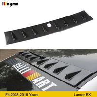 Shark Style dummy CF Roof wing spoiler For Mitsubishi Lancer EX 2008 2015 year imitate Carbon fiber back window spoiler