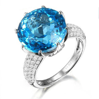 Новинка 2017 года Модные украшения QI xuan_fashion jewerly_blue камень роскошные Rings_S925 твердый палец rings_manufacturer непосредственно распродажа