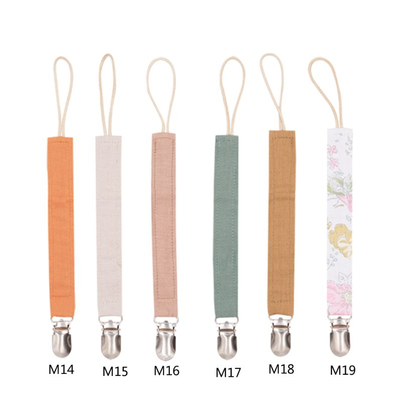 Pacifier Clips Chain Baby Pacifier Clip Chain Cotton Linen Dummy Clip Pacifier Holder Nipple Soother Chain For Infant Baby Feed