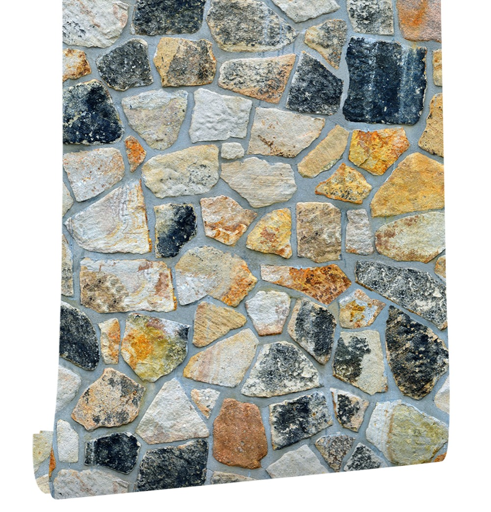 HaokHome Rustic 3d Rock Stone Wallpaper Self Adhesive Peel Stick mural Sticker For living room Kitchen Bathroom Wall Decoration free shipping marble parquet 3d floor stereo moisture self adhesive office decoration living room wallpaper mural