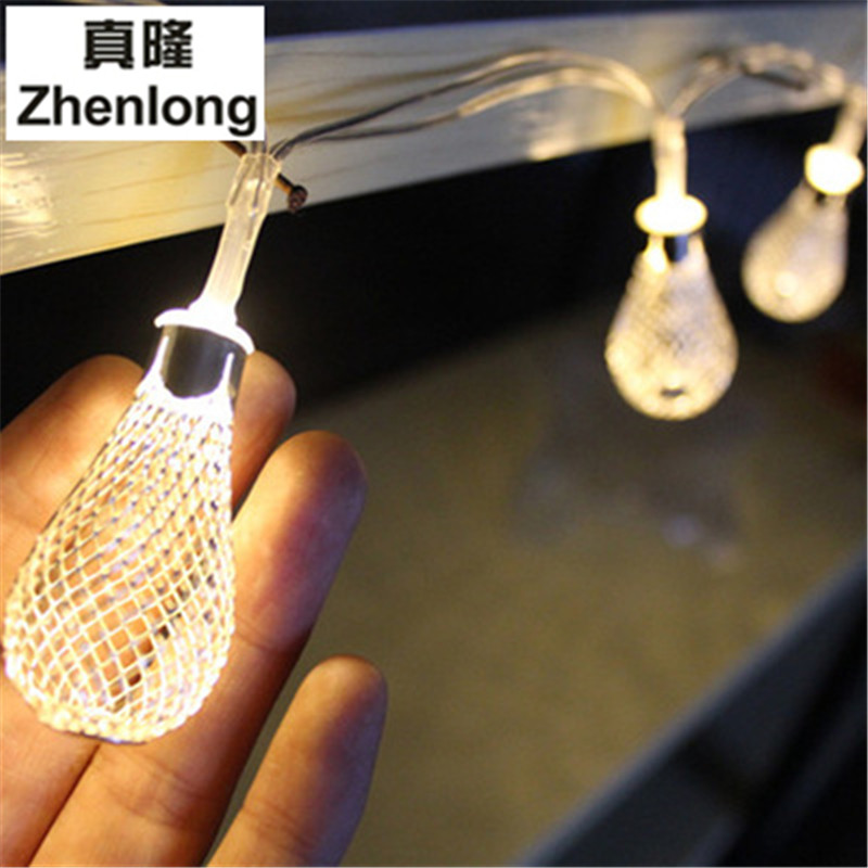 New 20 Led Battery Powered Water Drop String Lights Led
