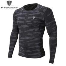 FANNAI Compression Training T Shirt Men Tight Sportwear Dry Fit Gym font b Fitness b font