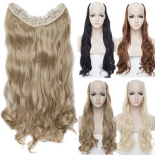 SNOILITE 24inch 4 clips in one piece wavy Hair Exte