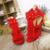 Brand New Venda Sexy Mulheres Borla Sandálias Azul Vermelho Roxo Preto Das Senhoras Sapatos de Salto alto Rebites Fringe AY102 Além Big Size 32 43 10