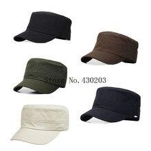 Unisex hranatá čepice s kšiltem s přezkou pro změnu velikosti
