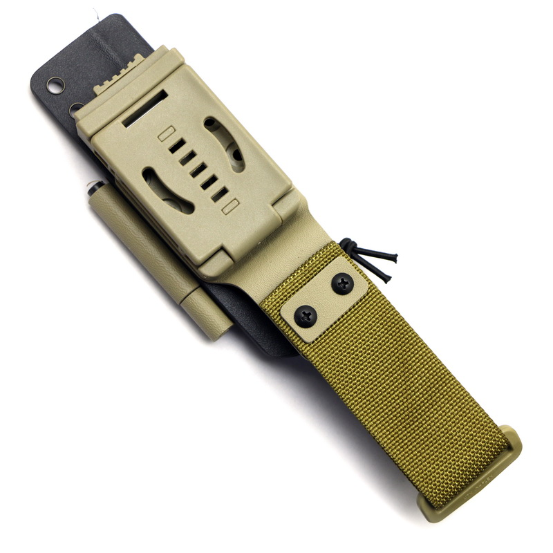 District 9 Originele Survivor D2 fixed blade straight jachtmes KYDEX Schede G10 handvat camping outdoor EDC messen gereedschappen - 6