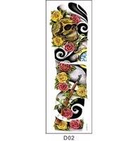 D02 Flower arm tattoo stick waterproof male arm emporary Tattoo Body Paint