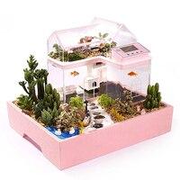 Творческий аквариум маленький аквариум экологические украшения дома ребенок DIY суккуленты Принцесса Принц Дом Сад Фея мечта
