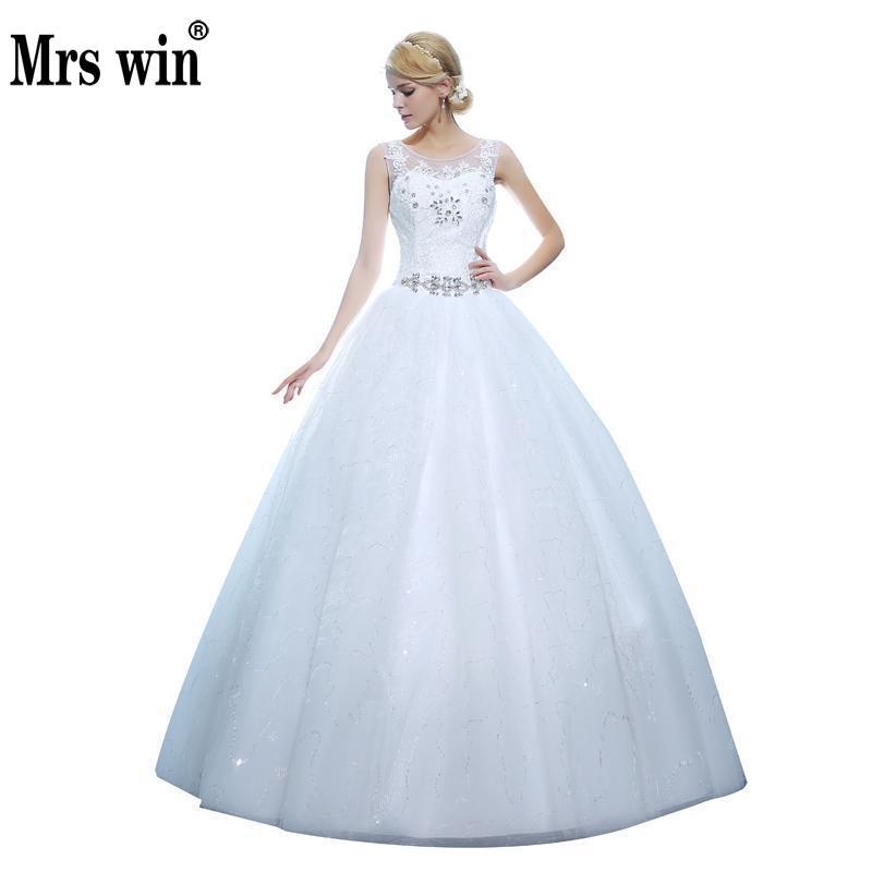 New The Bride Dress Luxury See Through Wedding Dress Large Size Custom Made Wedding Dress 406
